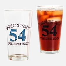 54 birthday design Drinking Glass