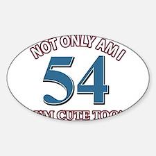 54 birthday design Sticker (Oval)