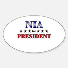 NIA for president Oval Decal