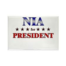 NIA for president Rectangle Magnet