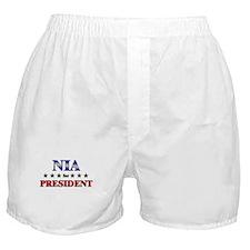 NIA for president Boxer Shorts