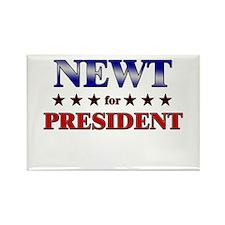 NEWT for president Rectangle Magnet