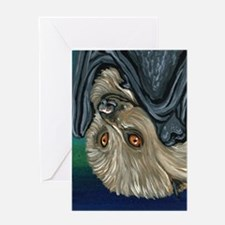 Flying Fox Bat Greeting Cards
