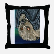 Flying Fox Bat Throw Pillow