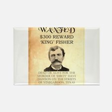"""Wanted """"King"""" Fisher Rectangle Magnet"""