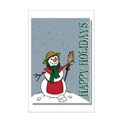 Christmas Lady Snowman Posters