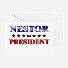 NESTOR for president Greeting Card
