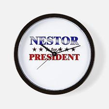 NESTOR for president Wall Clock