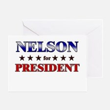 NELSON for president Greeting Card