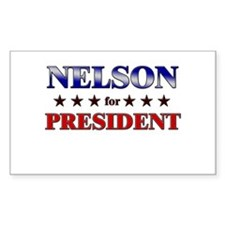NELSON for president Rectangle Decal