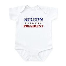 NELSON for president Infant Bodysuit