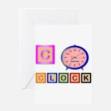 C Is For Clock Greeting Cards