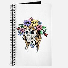 FLower Girl Goth Skull Journal