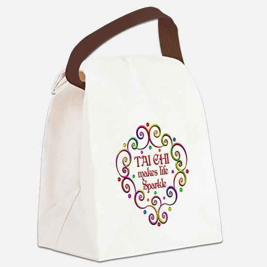 Tai Chi Sparkles Canvas Lunch Bag