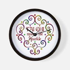 Tai Chi Sparkles Wall Clock