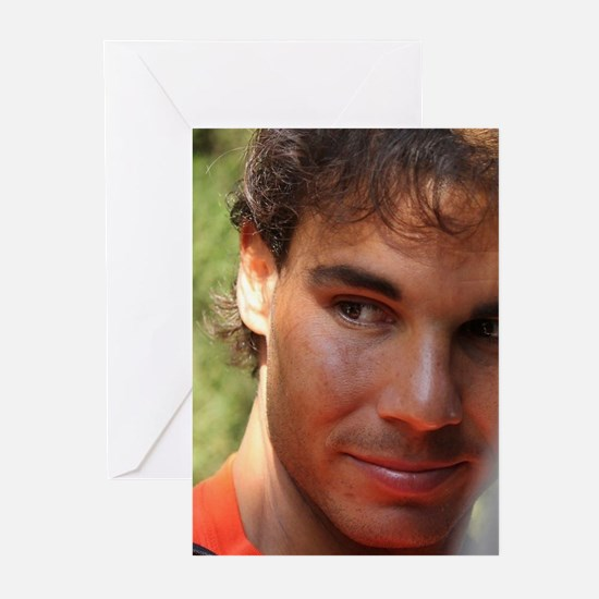 Rafa Nadal close up Greeting Cards