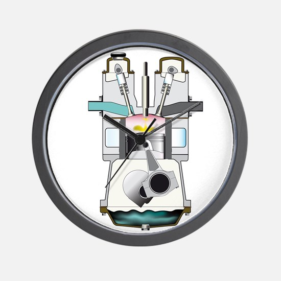 Diesel Fuel Injection Ignition Stroke Wall Clock