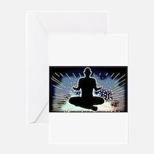 Sukhasana Yoga Pose Greeting Cards