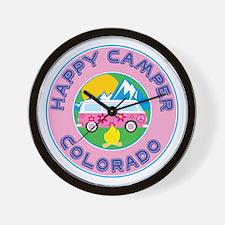 Cute Happy camper t Wall Clock