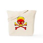 Flaming Skull & Crossbones Tote Bag