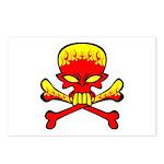 Flaming Skull & Crossbones Postcards (Package of 8