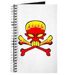 Flaming Skull & Crossbones Journal