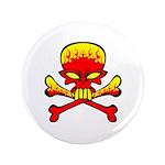 Flaming Skull & Crossbones 3.5
