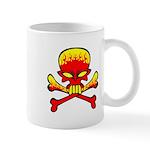 Flaming Skull & Crossbones Mug