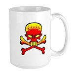Flaming Skull & Crossbones Large Mug