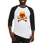 Flaming Skull & Crossbones Baseball Jersey