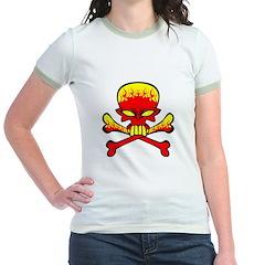 Flaming Skull & Crossbones T