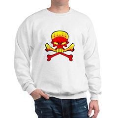 Flaming Skull & Crossbones Sweatshirt