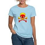 Flaming Skull & Crossbones Women's Light T-Shirt