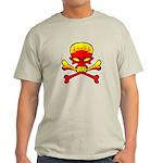 Flaming Skull & Crossbones Light T-Shirt