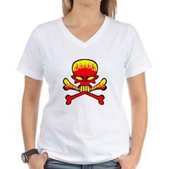 Flaming Skull & Crossbones Shirt