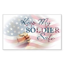 Keep My Soldier Safe Rectangle Decal