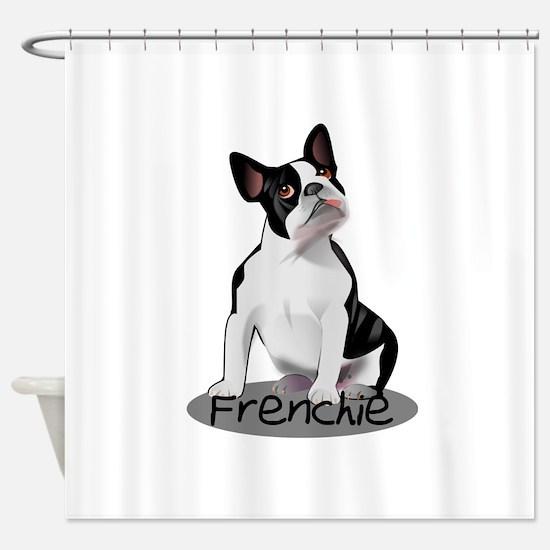 Frenchie the bulldog Shower Curtain