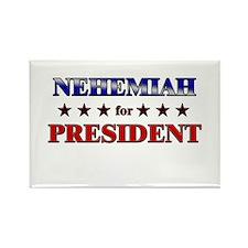 NEHEMIAH for president Rectangle Magnet