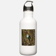 white throated sparrow Sports Water Bottle