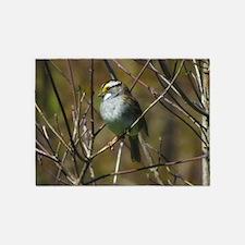 white throated sparrow 5'x7'Area Rug