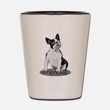 Frenchie the bulldog Shot Glass