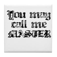 Master Black Tile Coaster
