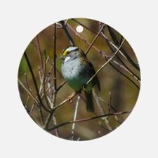 white throated sparrow Round Ornament