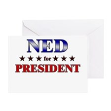 NED for president Greeting Card