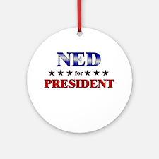 NED for president Ornament (Round)