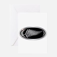 New Zealand Silver Fern Button Greeting Cards