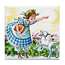 Mary's Lamb Tile Coaster