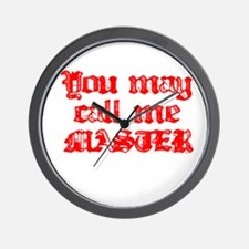 Master Red Wall Clock