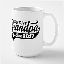 Great Grandpa Est. 2017 Large Mug