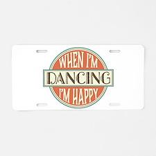 happy dancer Aluminum License Plate